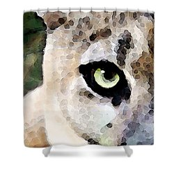 Panther Art - Florida's Feline Shower Curtain by Sharon Cummings