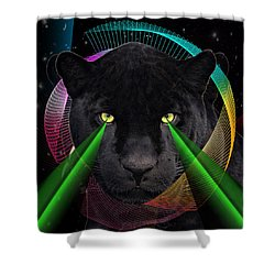Panther Shower Curtain by Mark Ashkenazi