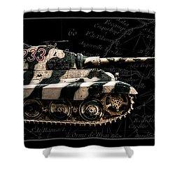 Panzer Tiger II Side Bk Bg Shower Curtain