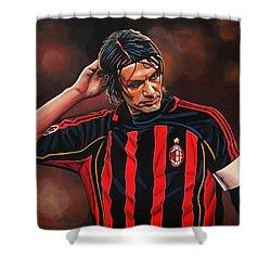 Paolo Maldini Shower Curtain by Paul Meijering
