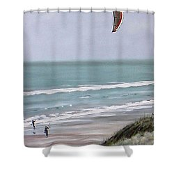 Papamoa Beach 090208 Shower Curtain by Sylvia Kula