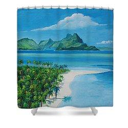 Papeete Bay In Tahiti Shower Curtain