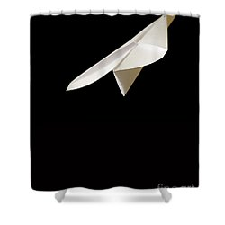 Paper Airplane Shower Curtain by Edward Fielding
