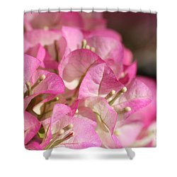 Papery In Pink Shower Curtain