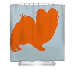 Papillion Orange Shower Curtain by Naxart Studio