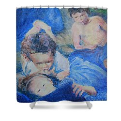 Papo's Putti Shower Curtain by Mark Robbins