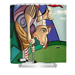 Par For The Course Shower Curtain by Anthony Falbo