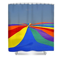 Parachute Of Many Colors Shower Curtain by Verana Stark
