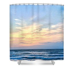 Paraclete At Sunrise  Shower Curtain by Mary Ward