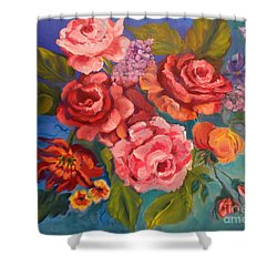 Parade Of Roses 11 Shower Curtain