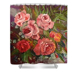 Parade Of Roses Shower Curtain
