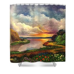 Paradise And Beyond Shower Curtain