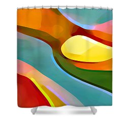 Paradise 5 Shower Curtain by Amy Vangsgard