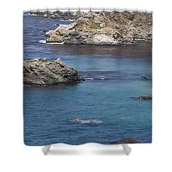 Paradise Beach Shower Curtain by David Millenheft