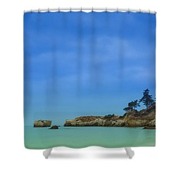 Paradise Beach Shower Curtain by Marco Oliveira