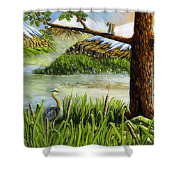Paradise  Shower Curtain by Carey MacDonald