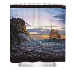 Paradise Cove And The Lightning  Shower Curtain
