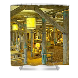 Paradise Inn Lobby Shower Curtain