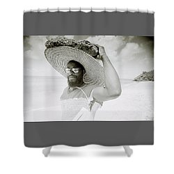 Paradise Island Shower Curtain by Shaun Higson
