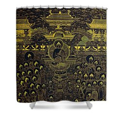Paradise Of Holy Sakyamuni Shower Curtain