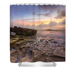Paradise On Jupiter Shower Curtain by Debra and Dave Vanderlaan