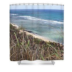 Paradise Overlook Shower Curtain by Suzanne Luft