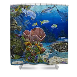 Paradise Re0012 Shower Curtain by Carey Chen
