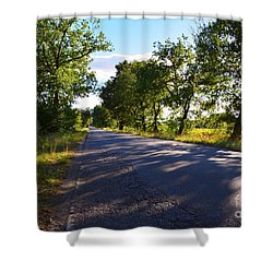 Shower Curtain featuring the photograph Paradise Road by Ramona Matei