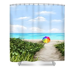 Paradise Shower Curtain by Veronica Minozzi