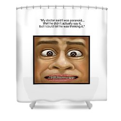 Paranoia Shower Curtain by Scott Ross