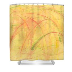 Paranoid In Reverse-horizontal Shower Curtain by Kelly K H B