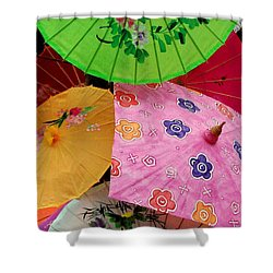 Parasols 2 Shower Curtain by Rodney Lee Williams