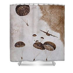 Paratroopers Shower Curtain