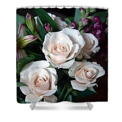 Shower Curtain featuring the photograph Pardon My Blush by RC deWinter