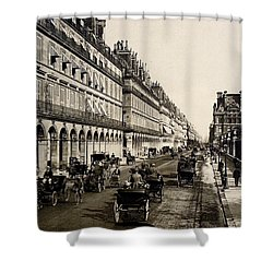 Paris 1900 Rue De Rivoli Shower Curtain by Ira Shander