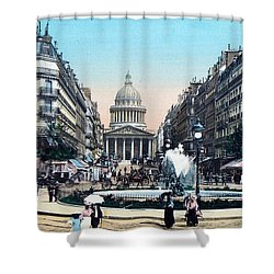Paris 1910 Rue Soufflot And Pantheon Shower Curtain by Ira Shander