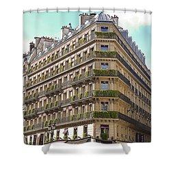 Paris Architecture Shower Curtain