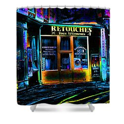 Paris At Night Shower Curtain by EricaMaxine  Price
