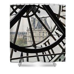 Paris Clock Shower Curtain by Brian Jannsen