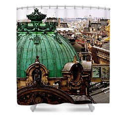 Paris Drizzles Shower Curtain
