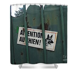 Paris - Farm Dog Shower Curtain by HEVi FineArt