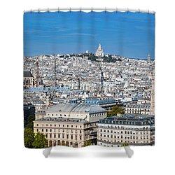 Paris France Sacre-coeur Basilica Shower Curtain by Michal Bednarek