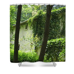 Paris - Green House Shower Curtain by HEVi FineArt