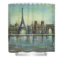 Paris Highlights Shower Curtain by Marilyn Dunlap