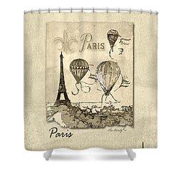 Paris In Sepia Shower Curtain