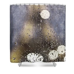 Paris In The Rain Shower Curtain by Evie Carrier