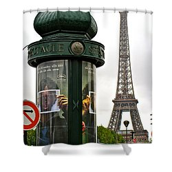 Shower Curtain featuring the photograph Paris by Ira Shander
