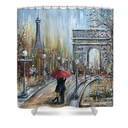 Paris Lovers II Shower Curtain
