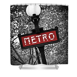 Paris Metro Shower Curtain by Elena Elisseeva