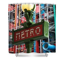 Paris Metro Shower Curtain by Inge Johnsson